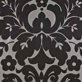 DUTCH WALLCOVERINGS Tapete Medaillon-Design Schwarz und Silbern 6811-7 - Vorschau 1