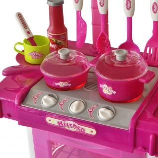 Kinderküche Spielküche mit Licht- und Soundeffekten Rosa - Vorschau 3