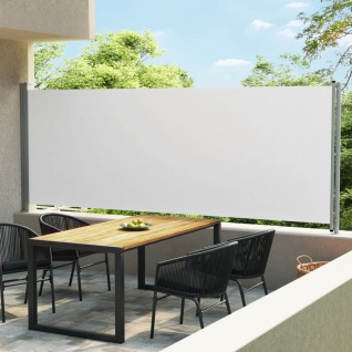 vidaXL Ausziehbare Seitenmarkise 600x170 cm Creme