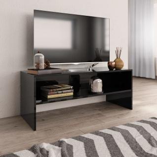 vidaXL TV-Schrank Hochglanz-Schwarz 100 x 40 x 40 cm Spanplatte
