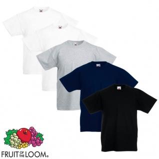 Fruit of the Loom Kinder-T-Shirt Original 5 Stk. Mehrfarbig Größe 116
