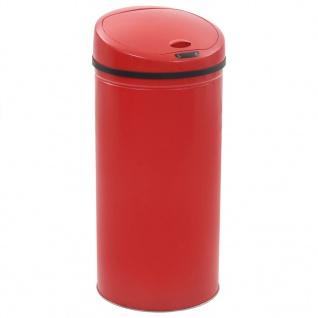 vidaXL Sensor-Mülleimer 52 L Rot