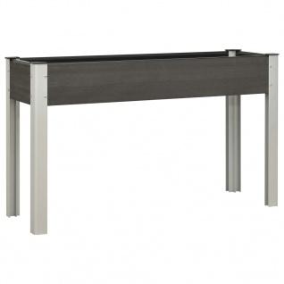 vidaXL Garten-Hochbeet 125x40x75 cm WPC Grau