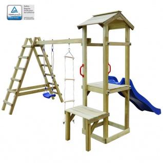 vidaXL Spielturm mit Rutsche Leitern Schaukel 286×228×218 cm Holz