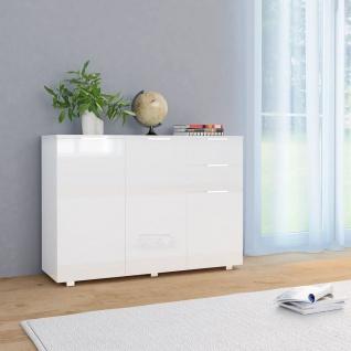 vidaXL Sideboard Hochglanz-Weiß 107 x 35 x 76 cm