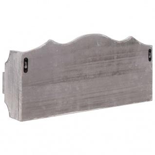 vidaXL Wandgarderobe Grau 50×10×23 cm Holz - Vorschau 4