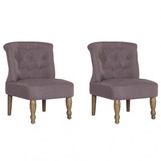 vidaXL Französische Stühle 2 Stk. Taupe Stoff - Vorschau 2
