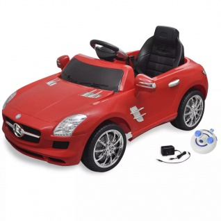 Elektroauto Ride-on Mercedes Benz SLS AMG Rot 6 V mit Fernbedienung
