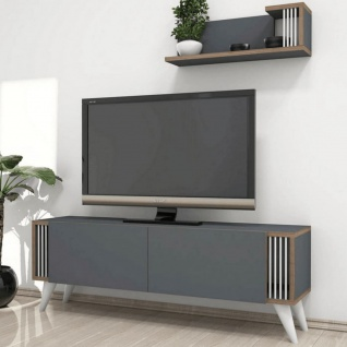 Homemania TV-Schrank Nicol 120x31x42 cm Anthrazit - Vorschau 2