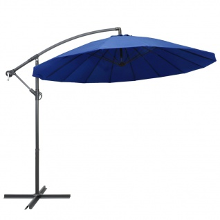 vidaXL Ampelschirm Blau 3 m Aluminium-Mast