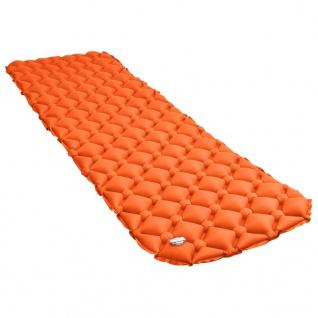 vidaXL Aufblasbare Isomatte 58x190 cm Orange