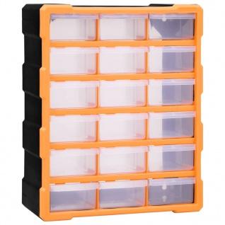 vidaXL Multi-Schubladen-Organizer 18 Schubladen 38x16x47 cm