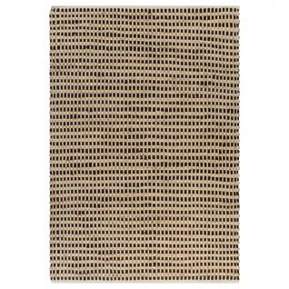 vidaXL Handgewebter Teppich Jute Stoff 120 x 180 cm Natur und Schwarz