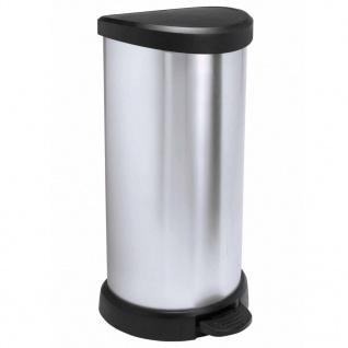 Curver Deco Tretmülleimer 40 L Silbern 240637