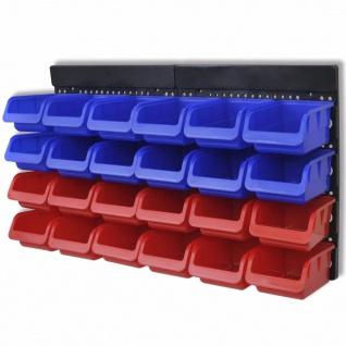 Werkstattboxen für die Wand Blau und Rot (2 Aufbewahrungseinheiten)