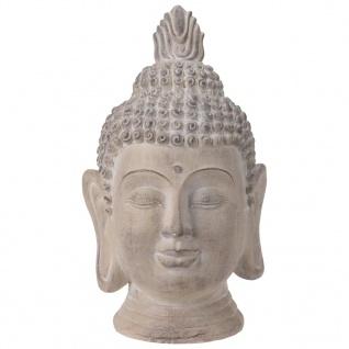 ProGarden Buddha Kopf Deko 31x29x53, 5 cm