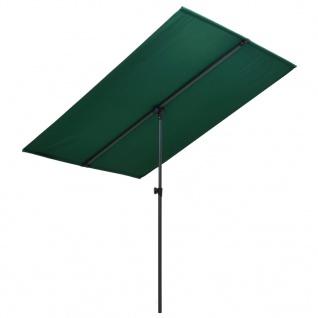 vidaXL Sonnenschirm mit Aluminium-Mast 2x1, 5 m Grün