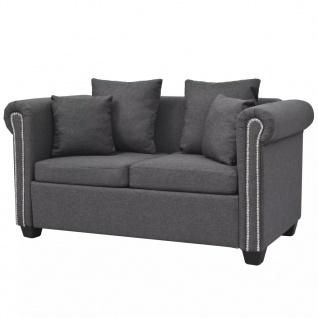 vidaXL 2-Sitzer-Sofa Stoff 143 x 75 x 73 cm Dunkelgrau