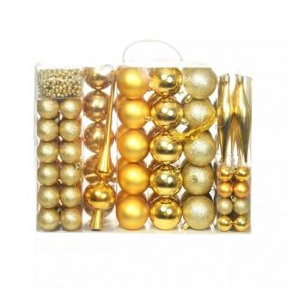 vidaXL 113-tlg. Weihnachtskugel-Set 6 cm Golden