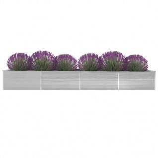 vidaXL Garten-Hochbeet Verzinkter Stahl 600x80x45 cm Grau