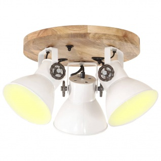 vidaXL Deckenlampe Industriestil 25 W Weiß 42x27 cm E27