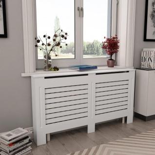 vidaXL Heizkörperabdeckung Weiß 152×19×81, 5 cm MDF