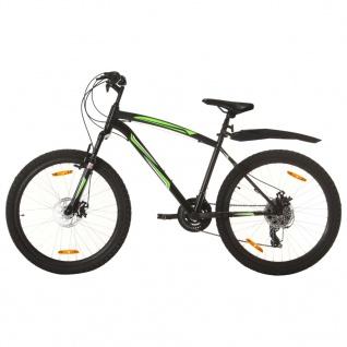 vidaXL Mountainbike 21 Gang 26 Zoll Rad 46 cm Schwarz