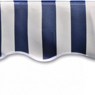 vidaXL Markisenstoff Sonnenschutz Blau & Weiß 3×2, 5 m (ohne Rahmen) - Vorschau 4