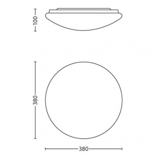 Philips LED-Deckenleuchte myLiving Suede Weiß 4 x 5 W 318023116 - Vorschau 3