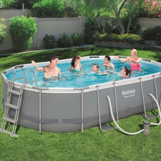 Bestway Power Steel Swimmingpool-Set Oval 488×305×107 cm 56448