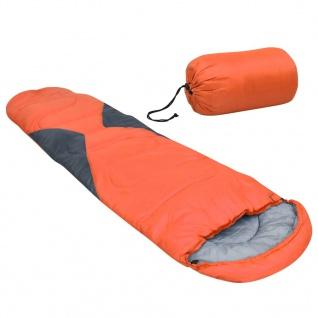 vidaXL Schlafsack Orange 5? 1400g