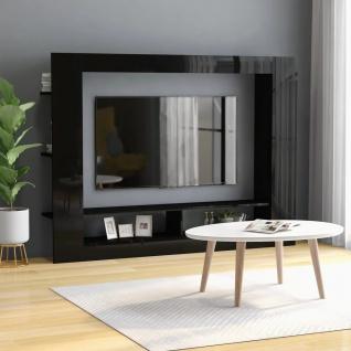 vidaXL TV-Schrank Hochglanz-Schwarz 152 x 22 x 113 cm Spanplatte