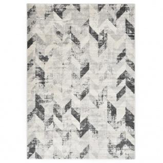 vidaXL Teppich Grau und Weiß 80 x 150 cm PP