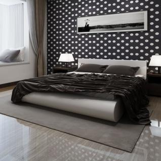 vidaXL Bett mit Matratze Weiß Kunstleder 180×200 cm