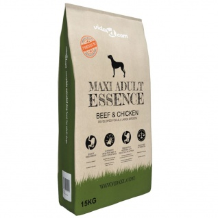 vidaXL Trockenhundefutter Maxi Adult Essence Beef & Chicken 15 kg
