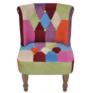 vidaXL Französischer Sessel 2 Stk. Patchwork-Design Stoff - Vorschau 4