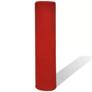 vidaXL Roter Teppich 1x5 m Extra Schwer 400 g/m² - Vorschau 4