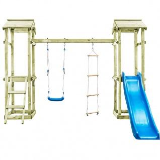 vidaXL Spielturm mit Leiter Rutsche Schaukel 300x197x218 cm Holz - Vorschau 3