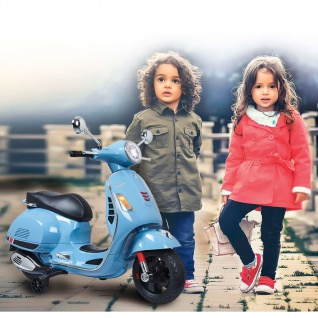 Jamara Motorroller Vespa GTS 125 Blau 12 V