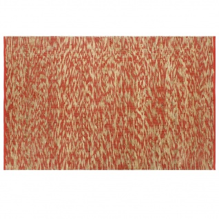 vidaXL Teppich Handgefertigt Jute Rot und Natur 160x230 cm