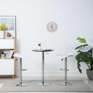 vidaXL Drehbare Barhocker 2 Stk. Kunstleder 45 x 44, 5 x 85 cm Weiß