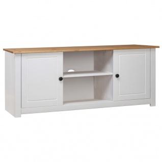 vidaXL TV-Schrank Weiß 120 x 40 x 50 cm Massivholz Panama-Kiefer