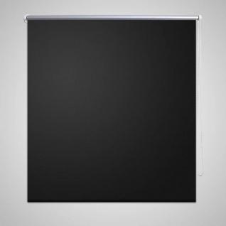 Verdunkelungsrollo 140 x 230 cm schwarz