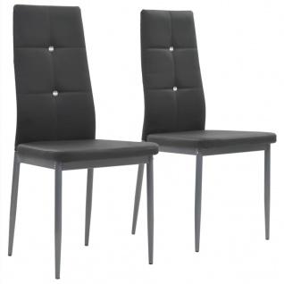 vidaXL Esszimmerstühle 2 Stk. Kunstleder 43 x 43, 5 x 96 cm Grau