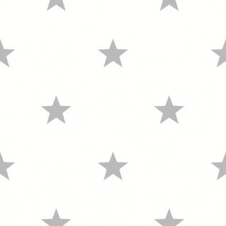 Urban Friends & Coffee Tapete Sterne Weiß und Grau