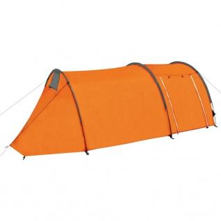 vidaXL Campingzelt 4 Personen Grau und Orange