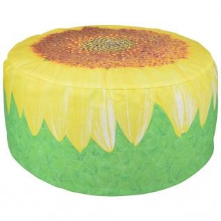 Esschert Design Aufblasbarer Outdoor-Pouf Sonnenblume 58 cm BK017