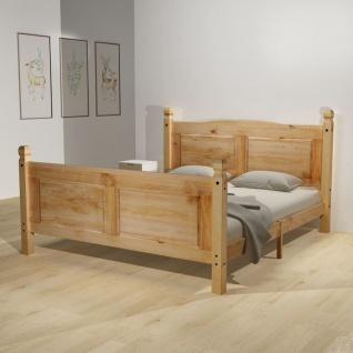vidaXL Bett & Memory-Matratze Mexikanische Kiefer Corona 140 x 200 cm