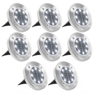 vidaXL Solar-Bodenleuchten 8 Stk. LED-Leuchtmittel Weiß