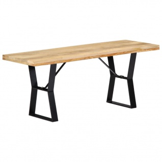 vidaXL Sitzbank 110 cm Massivholz Mango
